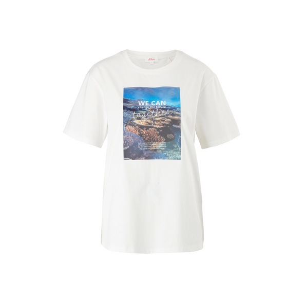 Jerseyshirt mit Frontprint - T-Shirt