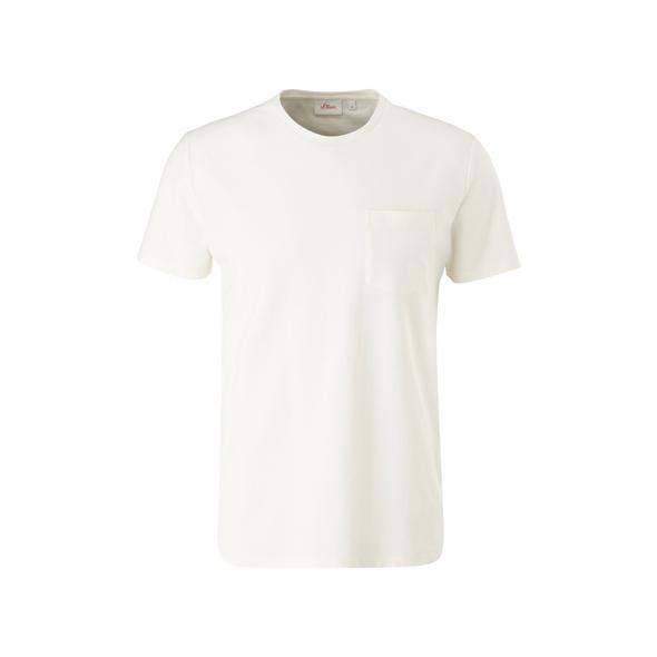 T-Shirt mit Piquéstruktur - T-Shirt