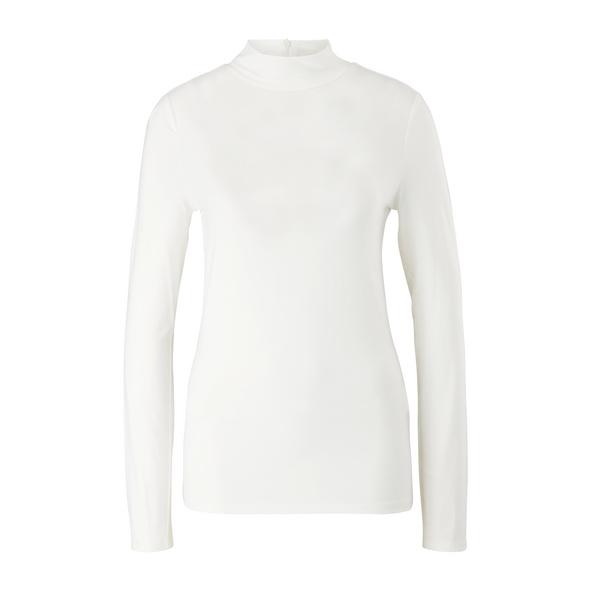 Langarmshirt mit Stehkragen - T-Shirt langarm