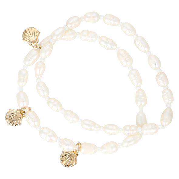 Armband-Set - White Pearls