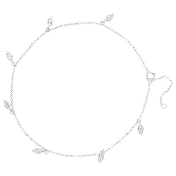 Fußkettchen - Silver Leaf