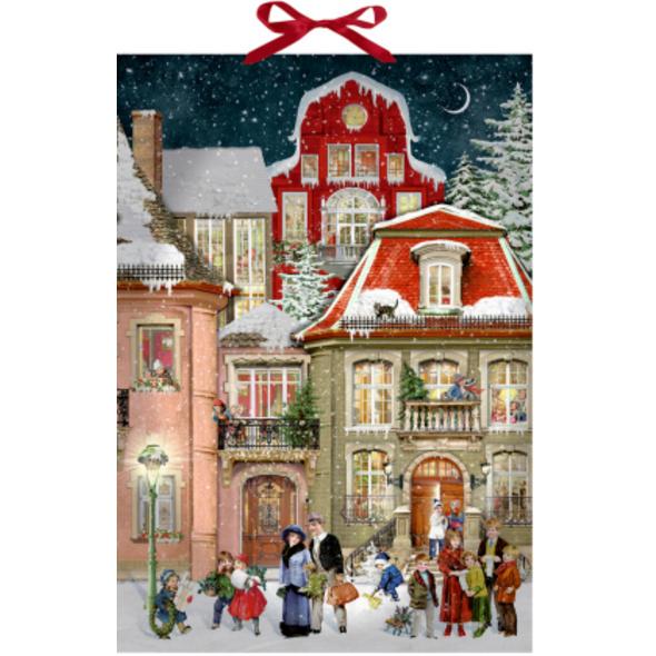 Wand-Adventskalender - In der Weihnachtsgasse