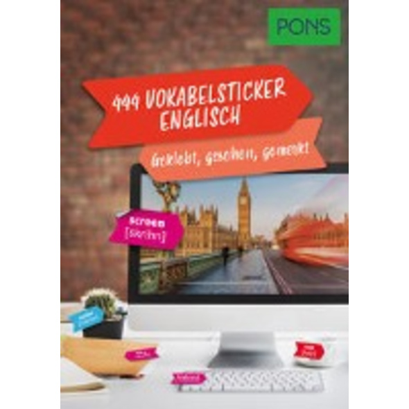 PONS 444 Vokabelsticker Englisch