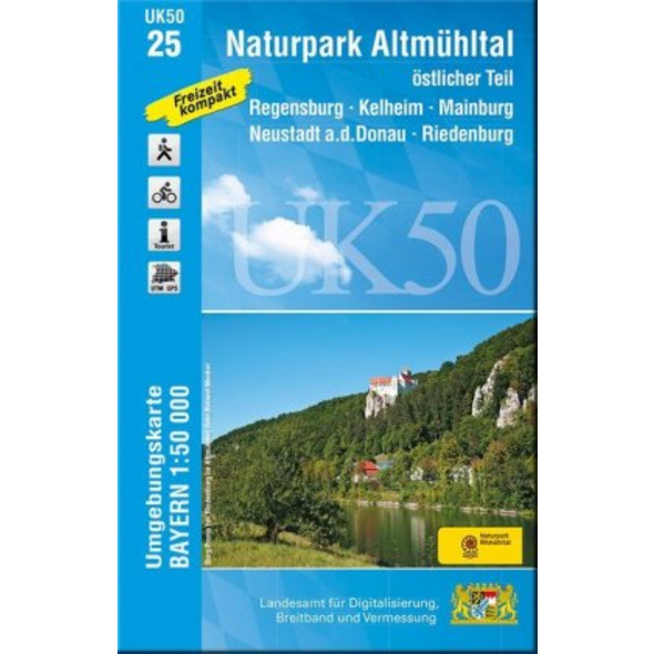 Naturpark Altmühltal Ost 1 : 50 000  UK50-25
