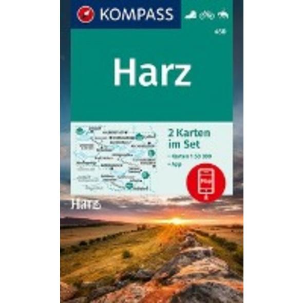 KOMPASS Wanderkarte Harz 1 : 50 000