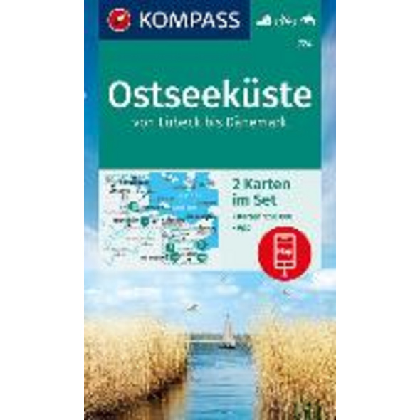 KOMPASS Wanderkarte Ostseeküste von Lübeck bis Dän